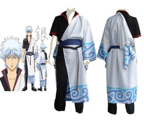 Sunkee Silver Soul Sakata Gintoki Cosplay Kostüm , Größe XL (Höhe 175cm-180cm , Gewicht 70-80 kg)