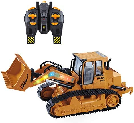 VAlinks 5 Channel RC Bulldozer Remote Control Excavator Full Functional Front Loader Construction product image