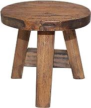 vidaXL Solid Reclaimed Wood Stool 20x20x23cm Vintage-style Home Furniture Seat
