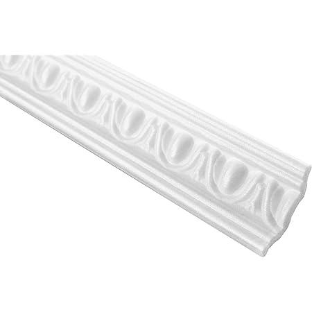 20 x 10 mm modanature decorative in polistirolo Hexim listelli da parete in polistirolo XPS FG1 listelli in stucco di alta qualit/à leggeri e robusti nel design moderno