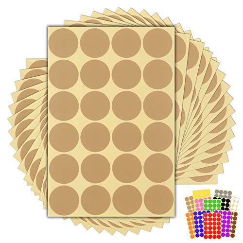 Paquete de 360 x 32mm redondo fácil de despegar – Pegatinas de lunares para calendarios de codificación de colores – 13...