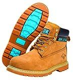 OX Honey Nubuck Safety Boot - Size 8