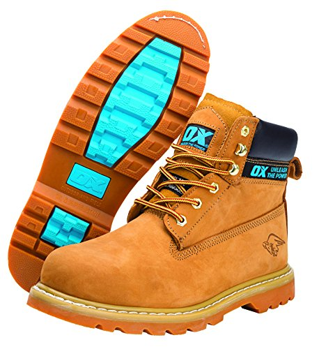 OX OX-S242509 Safety Boots - Industrial Grade Honey Nubuck Safety Boots...
