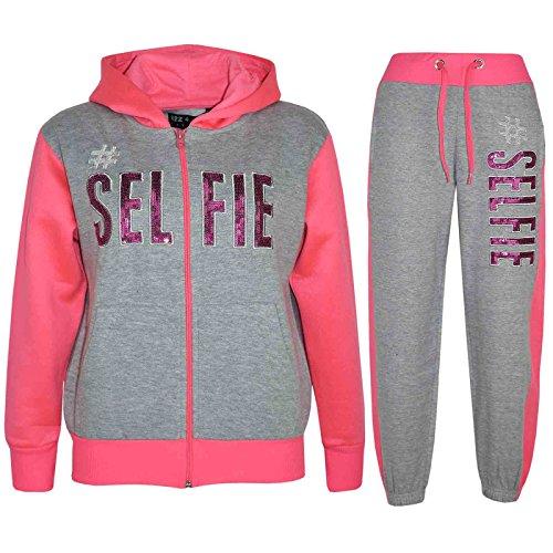 A2Z 4 Kids A2Z 4 Kids® Kinder Mädchen Jungen Designer - T.S #SELFIE Grey & Neon Pink 13