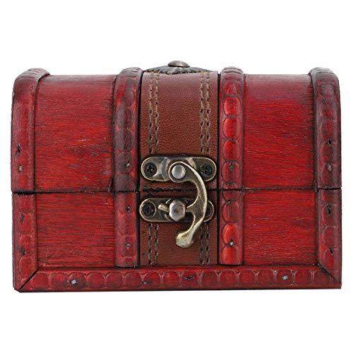 Joyero de madera, Vintage elegante evita el polvo Vintage Caja de madera, hermoso regalo de mesa de oficina para el escritorio del hogar para guardar cosas