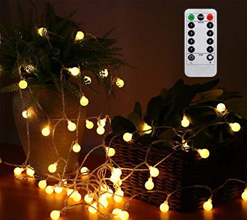 AMARS 33ft Battery Powered Globe Strings Lights