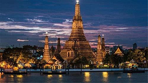 Puzzle de 1000 piezas de rompecabezas de madera Rompecabezas rompecabezas de madera DIY Bangkok Tailandia rompecabezas rompecabezas decorativo-rompecabezas para adultos-regalo rompecabezas educativo