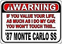 あなたの人生の注意壁の金属のポスターレトロなプラークの警告ブリキのサインヴィンテージ鉄の絵画の装飾オフィスの寝室のリビングルームクラブのための面白いハンギングクラフト