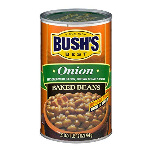 Bush's Best, Onion Baked Beans, 28oz Can (Pack of 4)