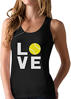 Love Tennis - Gift Idea for Tennis Fans Cool Racerback Tank Top