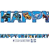 amscan Swashbuckling Skylanders Jumbo Add an Age Letter Banner Birthday Party Decoration (1 Piece), 10 1/2' x 10', Blue