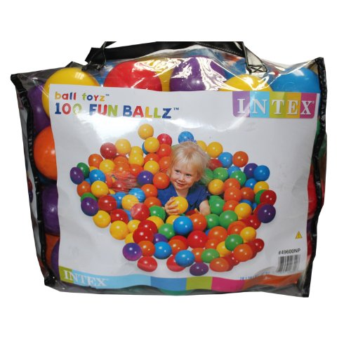 Intex 100 Ballen voor de Ballenbak 8cm