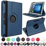 UC-Express Tablet Hülle kompatibel für Xiaomi Mi Pad 4 Plus Tasche Schutzhülle Cover Schutz Case 360° Drehbar 10.1 Zoll Klapphülle, Farben:Blau
