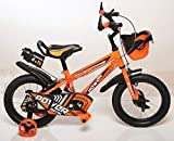 Outplay Free Bird 14T Kids Cycle for 3 to 5 Years Age (Orange & Green & Blue) (Orange)
