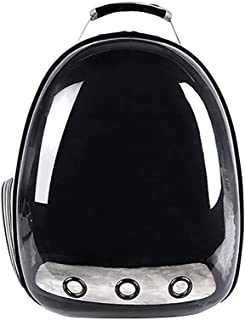 khkadiwb Cat Toys/Interactive Cat Toys/Cat Accessories/Transparent Capsule Pet Cat Dog Kitty Puppy Backpack Carrier Outdoor Travel Bag - Black Having Fun Exercise Playing