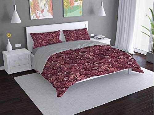 Toopeek Vintage hotel bed linen Colorful-Suitcase-Atique polyester - soft and breathable (Queen)