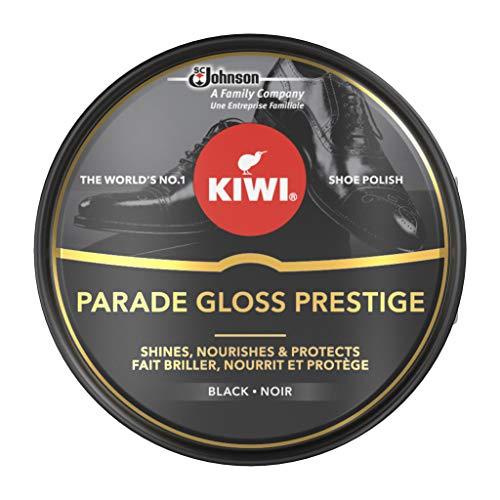 KIWI Parade Gloss Prestige, high quality shoe shine Polish, Helps Black leather to shine, Metal Tin, 50 ml