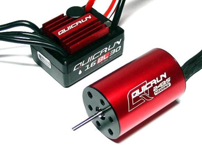 RCECHO& 174; HOBBYWING QUICRUN 2435SL 4500KV Sensorless Brushless Motor & 30A ESC Combo ME140 174; Full Version Apps Edition