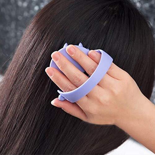 TUOF Siliconen Hoofdhuid Massage Penseel Wassen Massager Douchekop Haar Grote Tand Kam Huishoudelijke Reiniging Hoofdhuid Kam