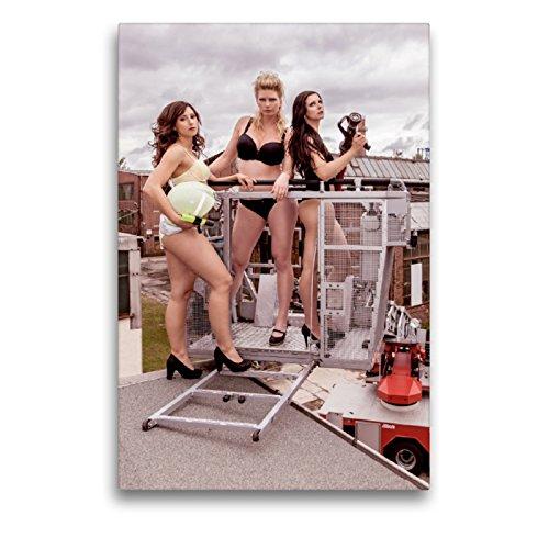 CALVENDO Premium Lienzo 50 cm x 75 cm de Alto, Sexy Bomberos Imagen Imagen en Bastidor, Listo en Lienzo auténtico, impresión en Lienzo Menschen Personas