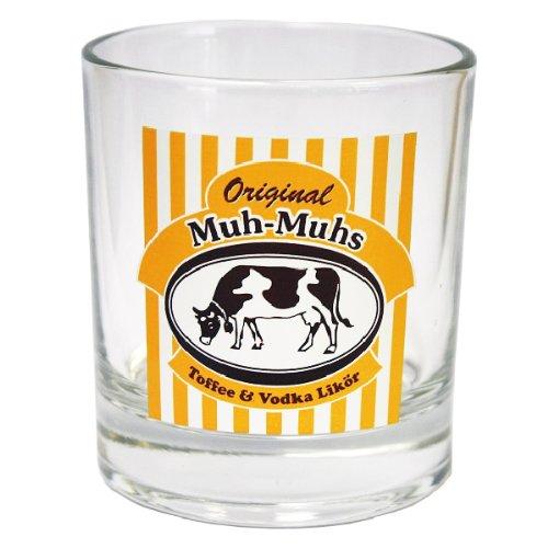 Original Muh-Muhs Toffee & Vodka Likör Glas, klar, Becherglas, 200 ml