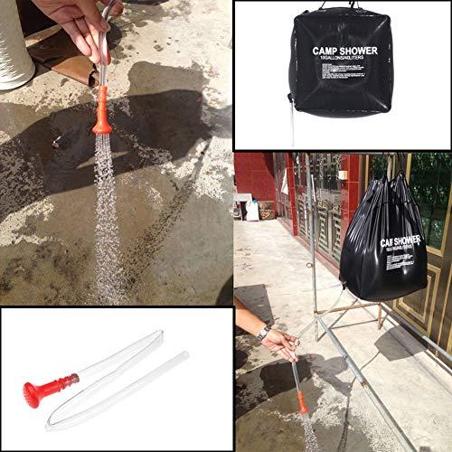 FDSEP Tragbare Outdoor-Solar-Warmwasserbad waschen Badetasche Sun Wasser Tasche nach Hause Wilde Dusche Dach Duschtasche 40L