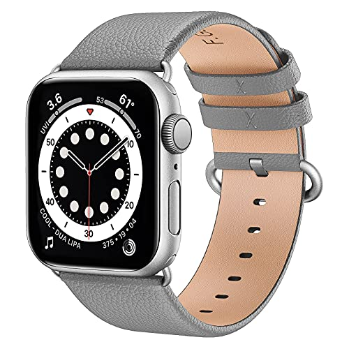 Strap de reloj de Apple 44mm / 42mm, correa de reloj de apple de cuero para iWatch SE 6/6/4/3/2/1, Iwatch Band 38mm / 40mm, correa de reemplazo compatible con Apple Watch6 / SE, APPLE WATCH STRUT PARA