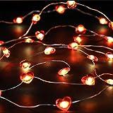 30 Luci a Forma di Cuore Rosso a LED, Luci a LED a Forma di Fata con Telecomando e Scatola della Batteria per Valentine's Day Festa di Nozze Fai Da Te