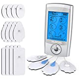 NURSAL TENS EMS Unit Muscle Stimulator, 2rd Gen Rechargeable TENS Machine with 16 Premium Electrode Pads & 16 Modes for Pain Relief & Management