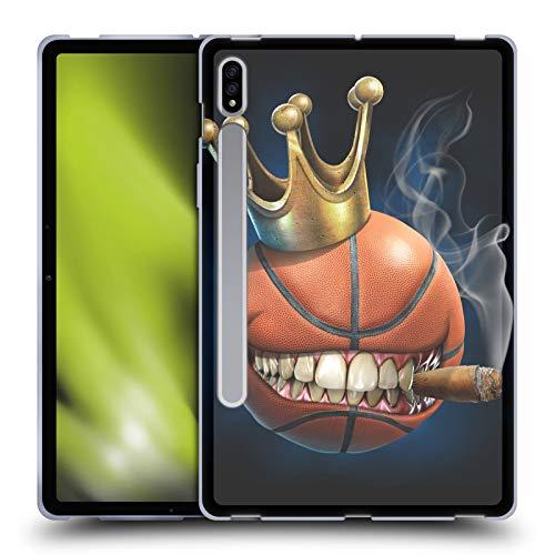 Head Case Designs Oficial Tom Wood Rey del Baloncesto Monstruos Carcasa de Gel de Silicona Compatible con Samsung Galaxy Tab S7 5G
