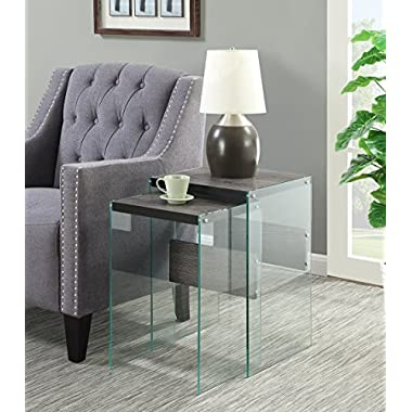 Convenience Concepts Soho Nesting End Tables, Weathered Gray
