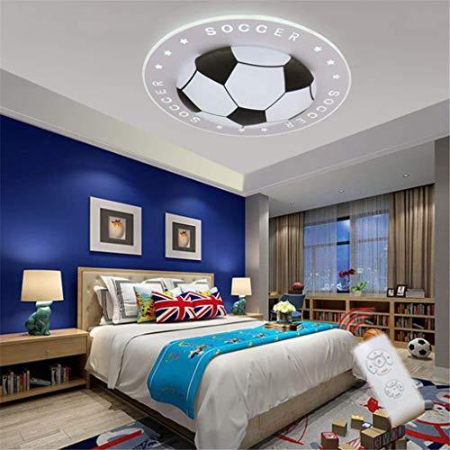 Kinderzimmer Licht Kreative Fußball Deckenlampe Moderne LED Junge Mädchen Augenschutz Deckenleuchte Wohnzimmer Schlafzimmer Kindergarten Dekoration Licht[Energieklasse A+],Schwarz,40cm