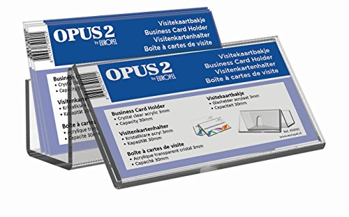 OPUS 2 350091 - Soporte para tarjetas de visita, acrilico Transparente, capacidad 30mm