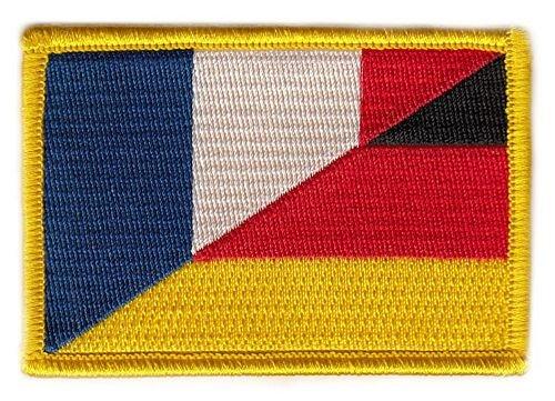 Flaggen Aufnäher Patch Deutschland / Frankreich Fahne Flagge