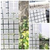 Xizfday Vinilo Ventana Película Vinilos para Cristales Pegatina Blanca Adhesivo de Privacidad Vinilo Traslúcido Decorativos para Ventana 45 cm * 200 cm