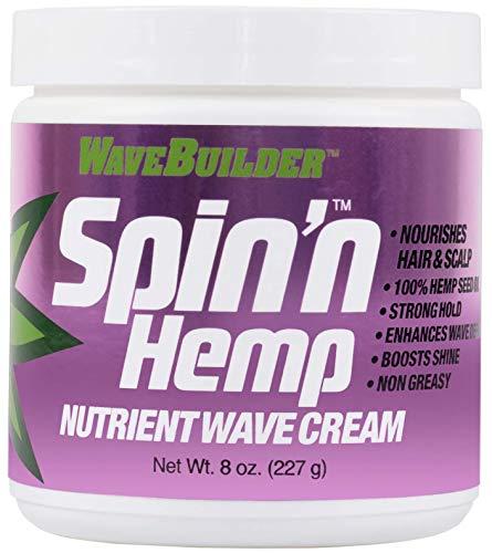 WaveBuilder Spin'n hemp wave cream, 8 Ounce