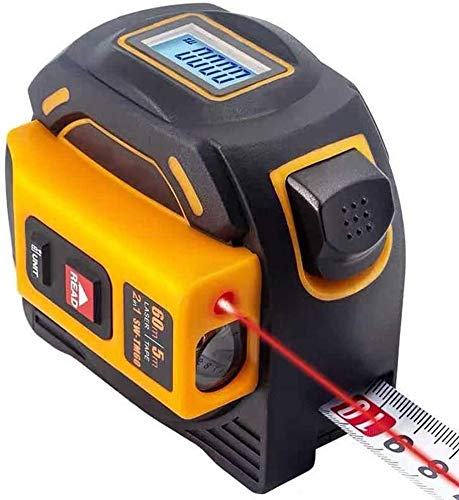 Digitale laser afstandsmeter, laserlint maatregel, professionele alleen metrische meetlint, meetlint met LCD-displayElektronische meetlint, zelfkalibratie stalen meetlint Smart liniaal Multifunctionel