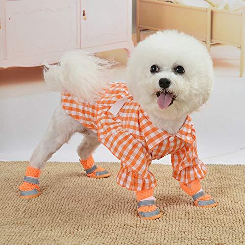 DishyKooker Haustierkleid mit Karomuster, für Katzen, Hunde, Frühling, Sommer, Baumwolle