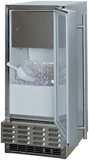 Marvel 30iMT-BB-F-R Indoor Clear Ice Machine, Black Door, Right Hinge, 15-Inch, Black