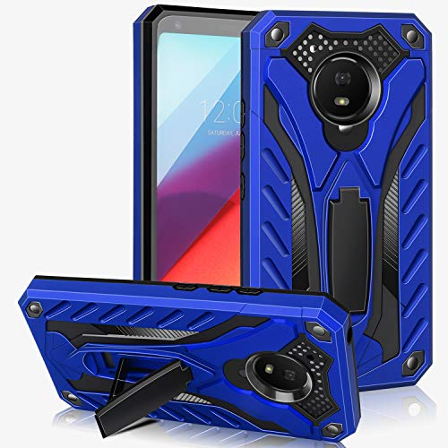 AFARER Case Compatible with Moto E4 5.0 inch, Military Grade 12ft Drop Tested Protective Case with Kickstand,Military Armor Dual Layer Protective Cover - Blue