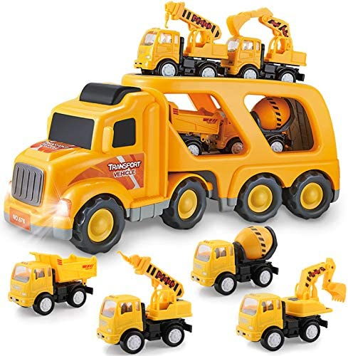 Construction Truck Toys for 3 4 5 6 Years Old Toddlers Kids Boys and Girls Car Toy Set with product image