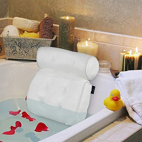 RdChicLog Badewannenkissen,Spa-Kissen mit 3D Mesh für Kopf, Rücken, Schulter, Nacken Stütze