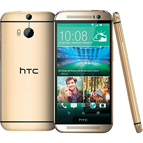 HTC One M8S Smartphone (12,7 cm (5 Zoll) Bildschirm, 16GB interner Speicher, Android 5.0 OS) Amber Gold