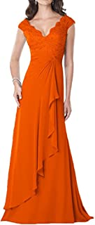 TalinaDress Women Long V Neck Applique Mother of Bride Dresses Formal Gowns E234LF