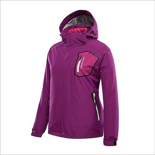 Mkulxina Veste d'hiver en Duvet pour Femme, Trois-en-Un, Deux vêtements imperméables pour l'alpinisme
