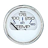 Faria 13804 Chesapeake Stainless Steel Water Temperature Gauge (100-250°F) - 2', White
