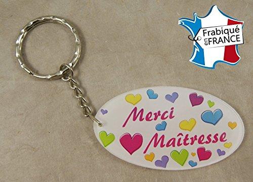 Porte Clef Merci Maîtresse - Le Cadeau Original de Fin d'Année Scolaire. L'école est finie ! Vive les Vacances !