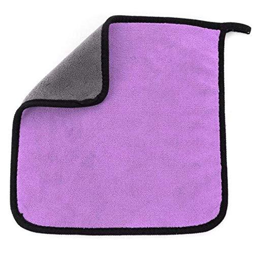 Toalla absorbente de microfibra automotriz, doble cara para coche y motocicleta, cuidado de pintura 30 x 30 cm