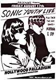 Close Up Sonic Youth Poster GOO-Live Hollywood Palladium