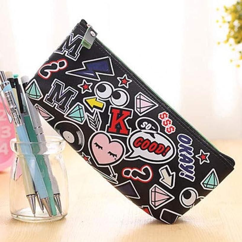 Waterproof Cosmetic Makeup Purse Wash Bag Organizer Pouch Pencil Case Handbag~ (Color - Black Eyes)